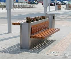 S Shaped Bench S Shaped Seat Clifton Park Rotherham Woodscape Street Furniture