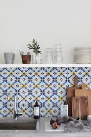 Kitchen Wall Decorations by Blue And White Kitchen Wall Tiles Outofhome