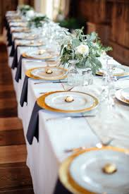 Elegant Table Settings by Elegant Navy White And Gold Table Setting Letterpress Wedding
