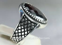rings design for men fashion design sterling silver 925 turkish garnet men