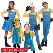 Toddler Minion Costume Despicable Me Fancy Dress Minion Costume Bob Kevin Dave