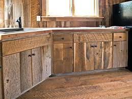 Wood Cabinet Doors Custom Crafted Barn Wood Cabinets Rustic Kitchen Oak Cabinet Doors