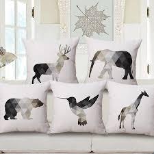 nordic animal cushion covers pillowcase cover throw pillow sofa