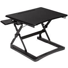 Kleiner Schreibtisch Schwarz Sitz Steh Schreibtisch Aufsatz Höhenverstellbar Ergonomisch