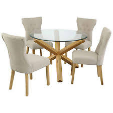oak glass dining tables ebay