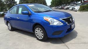 nissan blue u 2016 nissan versa 4d sedan sv metallic blue 42825 auto 1 6