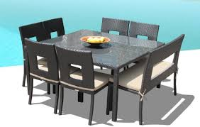 Square Patio Table Appealing Patio Dining Sets For 8 Exclusive Design Square Patio