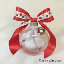 baby bootie ornament floating baby bootie pregnancy reveal ornament