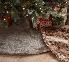 faux fur tree skirt pottery barn