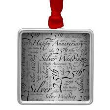 25th wedding anniversary christmas ornament 25th anniversary christmas tree decorations ornaments zazzle co uk