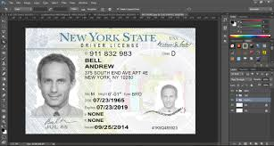 new york driver license template psd new version psd template