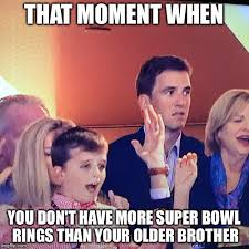 Broncos Superbowl Meme - image tagged in eli manning peyton manning super bowl giants