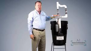 water powered sump pump youtube