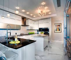 Miami Interior Design by Pfuner Design Oceanfront Penthouse Contemporary Kitchen