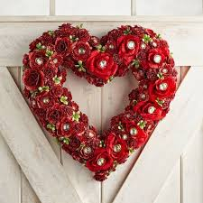 heart wreath s day faux roses jewels heart wreath pier 1 imports