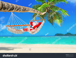 sunbathing santa claus relax cozy mesh stock photo 465142109