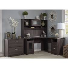 Bush Desks With Hutch Bush Furniture Cabot Collection L Desk With Hutch And Lateral File