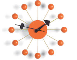 Design Clock by George Nelson Ball Clock In Orange Hivemodern Com