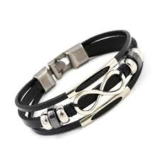 infinity bracelet leather images New arrival silver plated infinity bracelet bangle genuine leather jpg
