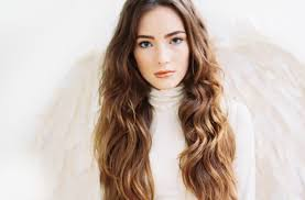 part down the middle hair style romantic wedding hairstyles all down waves middle part medium