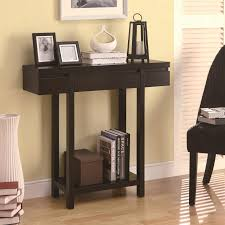 accent tables modern entry table with lower shelf by coaster
