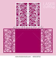 Wedding Cards Invitation Die Laser Cut Wedding Card Vector Stock Vector 485221906