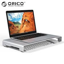 imac bureau orico aluminum laptop stand desk dock holder bracket for apple imac