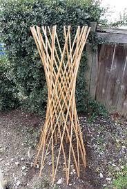 garden ornament willow obelisk willow funnel trellis wff 36f