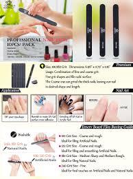 amazon com makartt professional nail files black washable double