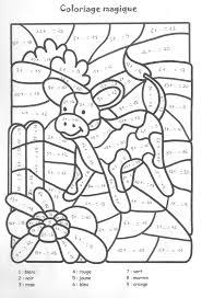 dessins de coloriage magique ce2 addition à imprimer