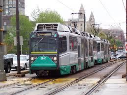 Train In Boston Map by Green Line
