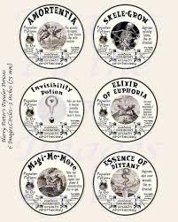 43 best harry potter fantasy potion labels u0026 spells digital