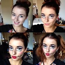 How To Do Doll Makeup For Halloween Halloween Doll Makeup Eltoria