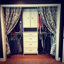Curtains As Closet Doors We This Look Add Curtains If You Don T Doors On Your