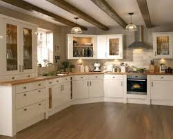 kitchen cream cabinets wood countertop google search kitchen