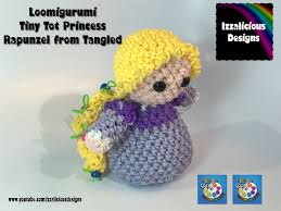 rainbow loom loomigurumi tiny tot rapunzel princess tangled