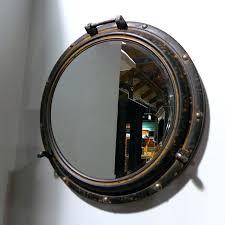 porthole mirrored medicine cabinet brass porthole mirror nautical maritime ships port hole porthole