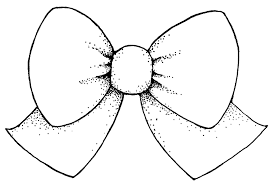 drawn tie hair bow pencil and in color drawn tie hair bow