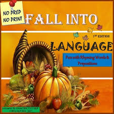 thanksgiving rhyming words prepositions language 1st edition