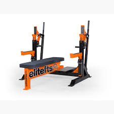 elitefts signature competition olympic bench with safeties foot