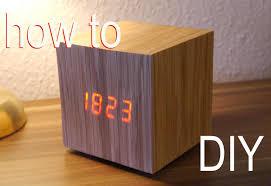 Designer Clock by Diy Designer Würfel Uhr Anleitung Wood Clock Youtube