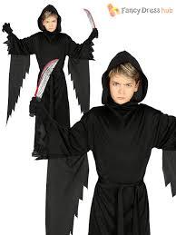 Grim Reaper Costume Boys Grim Reaper Costume Halloween Child Dark Assassin Fancy Dress