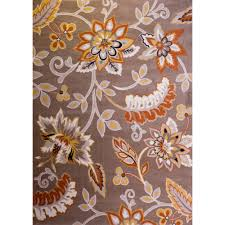Traditional Persian Rug by Nora Area Rug Area Rugs 8 10 Grey Solid Color Backgroundfloral