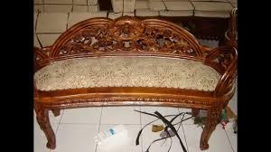 Wooden Carving Furniture Sofa Teak Wood Sofa Youtube
