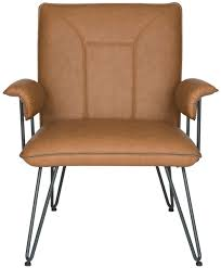 Leather Mid Century Chair Bicast Leather Accent Chairs Safavieh Com