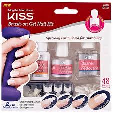 kiss brush on gel nail kit 51 pc walmart com