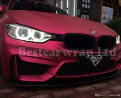 pink and black cars satin chrome pink car wrap film with air release matte chrome