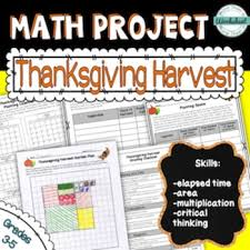 thanksgiving math project plan a harvest design a garden tpt