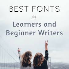 move sans best fonts to use for learners beginner