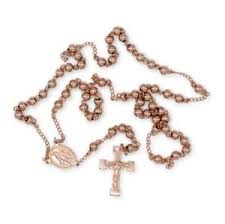 catholic rosary necklace traditional rosary necklace five decade stainless steel catholic